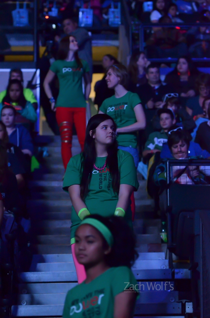 Students attend We Day Manitoba on October 30, 2012.