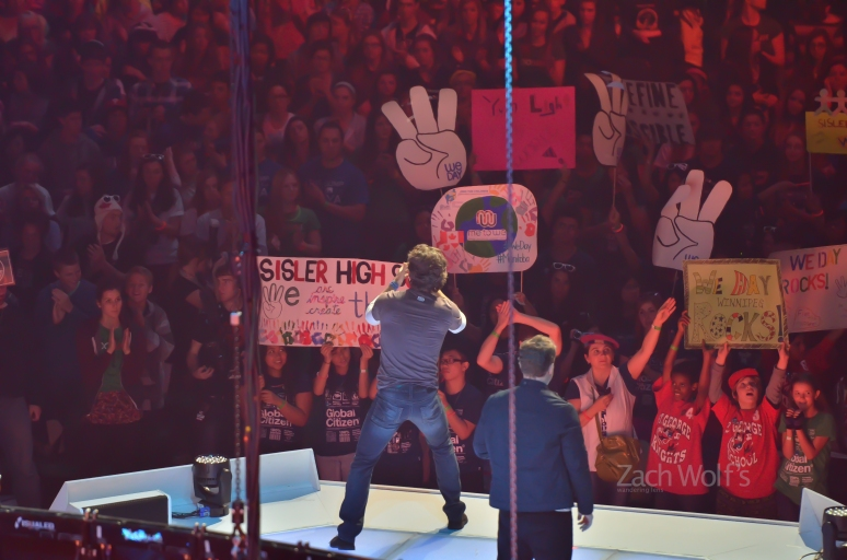 Craig and Marc Kielsburger close We Day Manitoba on October 30, 2012.